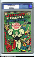 Silver Age (1956-1969):Superhero, Justice League of America #43 Bethlehem pedigree (DC, 1966). CGC VF+ 8.5 Light tan to off-white pages. Bethlehem collection....