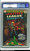 Silver Age (1956-1969):Superhero, Justice League of America #45 Bethlehem pedigree (DC, 1966). CGC VF 8.0 Cream to off-white pages. Bethlehem collection. Over...