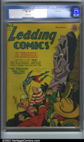 Golden Age (1938-1955):Superhero, Leading Comics #6 Crowley pedigree (DC, 1943). CGC VF- 7.5 Off-white pages. Crowley collection. Overstreet 2001 FN 6.0 value...