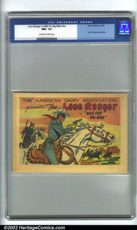 Lone Ranger in Milk for Big Mike #nn American Dairy Association Giveaway (Dell, 1955). CGC NM+ 9.6 Off-white to white pa...
