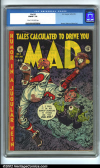Mad #2 (EC, 1952). CGC FN/VF 7.0 Cream to off-white pages. Overstreet 2001 FN 6.0 value = $409; NM 9.4 value = $1500