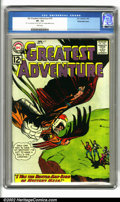 """Silver Age (1956-1969):Adventure, My Greatest Adventure #75 (DC, 1963). CGC VF- 7.5 White pages. CGC notes """"'63' on cover and 'Nov 30 1963' on 1st page writte..."""