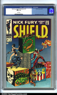 Nick Fury, Agent of SHIELD #1 (Marvel, 1968). CGC NM+ 9.6 White pages. Steranko cover and art. Overstreet 2001 NM 9.4 va...