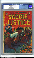 Golden Age (1938-1955):Western, Saddle Justice #6 (EC, 1949). CGC VG 4.0 Light tan to off-white pages. Overstreet 2001 GD 2.0 value = $40; FN 6.0 value = $1...