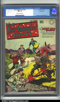 Star Spangled Comics #38 Crowley pedigree (DC, 1944). CGC NM- 9.2 Off-white to white pages. Crowley collection. Overstre...