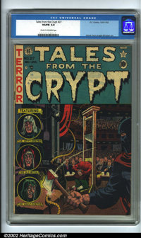 Tales From the Crypt #27 (EC, 1951). CGC VG/FN 5.0 Cream to off-white pages. Overstreet 2001 GD 2.0 value = $40; FN 6.0...