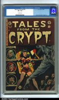 Golden Age (1938-1955):Horror, Tales From the Crypt #41 (EC, 1954). CGC VG+ 4.5 Off-white pages.Overstreet 2001 GD 2.0 value = $35; FN 6.0 value = $105....