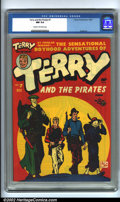 Golden Age (1938-1955):Adventure, Terry and the Pirates #7 (Harvey, 1947). CGC NM 9.4 Cream to off-white pages. Overstreet 2001 NM 9.4 value = $90....