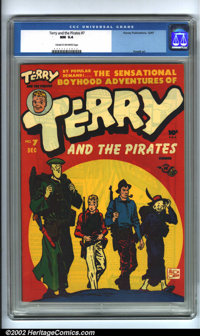 Terry and the Pirates #7 (Harvey, 1947). CGC NM 9.4 Cream to off-white pages. Overstreet 2001 NM 9.4 value = $90