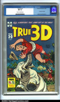 Golden Age (1938-1955):Adventure, True 3-D #1 (Harvey, 1953). CGC NM 9.4 Cream to off-white pages. Glasses included. Overstreet 2001 NM 9.4 value = $60....