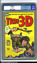 Golden Age (1938-1955):Adventure, True 3-D #2 (Harvey, 1954). CGC VF/NM 9.0 Cream to off-white pages. Glasses included. Overstreet 2001 NM 9.4 value = $65....