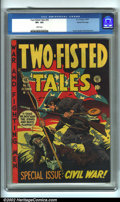 Golden Age (1938-1955):War, Two-Fisted Tales #35 Gaines File pedigree 8/11 (EC, 1953). Gaines File Copy, #8 (of 11). CGC VF+ 8.5 White pages. Overstreet...
