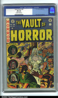 Golden Age (1938-1955):Horror, Vault of Horror #28 (EC, 1953). CGC VF+ 8.5 Off-white to whitepages. Slightly rusted staple. Overstreet 2001 FN 6.0 value =...