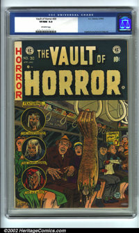 Vault of Horror #30 (EC, 1953). CGC VF/NM 9.0 Off-white pages. Overstreet 2001 NM 9.4 value = $285