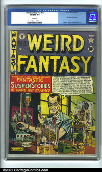 Weird Fantasy #13 (#1) (EC, 1950). CGC VF/NM 9.0 White pages. Overstreet 2001 NM 9.4 value = $2000