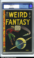 Golden Age (1938-1955):Science Fiction, Weird Fantasy #16 (#4) (EC, 1950). CGC NM 9.4 Off-white to whitepages. Used in Seduction of the Innocent. Overstreet 20...