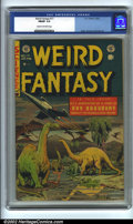 Golden Age (1938-1955):Science Fiction, Weird Fantasy #17 (EC, 1953). CGC FN/VF 7.0 Cream to off-whitepages. Overstreet 2001 FN 6.0 value = $84; NM 9.4 value = $31...