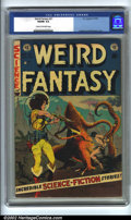 Golden Age (1938-1955):Science Fiction, Weird Fantasy #21 (EC, 1953). CGC VG/FN 5.0 Cream to off-white pages. Williamson/Frazetta cover. Overstreet 2001 GD 2.0 valu...