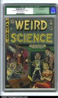 Golden Age (1938-1955):Horror, Weird Science #15 (#4) (EC, 1950). CGC Qualified FN+ 6.5 Cream tooff-white pages. Coupon missing from last page, affects st...