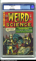 Golden Age (1938-1955):Science Fiction, Weird Science #14 (#3) (EC, 1950). CGC VF+ 8.5 Cream to off-white pages. Overstreet 2001 FN 6.0 value = $232; NM 9.4 value =...