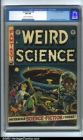 Golden Age (1938-1955):Science Fiction, Weird Science #16 (EC, 1952). CGC VG+ 4.5 Cream to off-white pages.Overstreet 2001 GD 2.0 value = $32; FN 6.0 value = $97....
