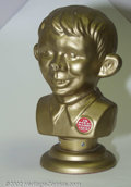 Golden Age (1938-1955):Humor, Alfred E. Neuman Rare German Bust. According to Grant Geissman's COLLECTIBLY MAD, this bust of AEN is of German origin, and ...