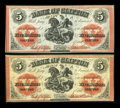 Canadian Currency: , Clifton, PC- Bank of Clifton $5 (2) Sept. 1, 1861 Ch. # 125-12-16,125-12-18. ... (Total: 2 notes)