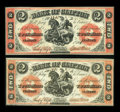 Canadian Currency: , Clifton, PC- Bank of Clifton $2 (2) Sept. 1, 1861 Ch. # 125-12-10,125-12-12. ... (Total: 2 notes)