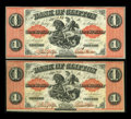 Canadian Currency: , Clifton, PC- Bank of Clifton $1 (2) Sept. 1, 1861 Ch. # 125-12-04,125-12-06. ... (Total: 2 notes)