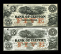 Canadian Currency: , Clifton, PC- Bank of Clifton $5 (2) Oct. 1, 1859 Ch. #125-10-02-06, 125-10-04-06. ... (Total: 2 notes)