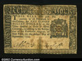 Colonial Notes:New York, New York September 2, 1775 $1 Very Fine....