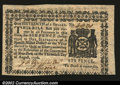 Colonial Notes:New York, New York August 13, 1776 $1/16 Very Choice New....