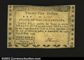 Colonial Notes:North Carolina, North Carolina May 15, 1779 $25 Choice About New....