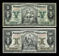 Canadian Currency: , Montreal, PQ- Banque Canadienne Nationale $5, $10 Feb. 1, 1929 Ch.# 85-12-02, 85-12-04. ... (Total: 2 notes)