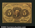 Fractional Currency:First Issue, Fr. 1230 5¢ First Issue Choice New. Tight at the bottom....