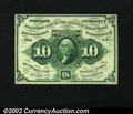 Fractional Currency:First Issue, Fr. 1243 10¢ First Issue Very Choice New. Scarce, bright an...