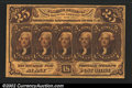 Fractional Currency:First Issue, Fr. 1281 25¢ First Issue Very Choice New. The face has marg...