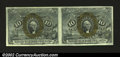Fractional Currency:Second Issue, Fr. 1245 10¢ Second Issue Horizontal Pair Choice About New....