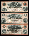 Canadian Currency: , Sault St. Marie, CW- The Bank of Brantford $1, $2, $5 Nov. 1, 1859Ch. # 40-12-02R, 40-12-04R, 40-12-08R. ... (Total: 3 notes)