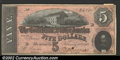 Confederate Notes:1864 Issues, 1864 $5 State Capitol at Richmond, VA in center; C.G. ...