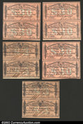 Confederate Notes:Group Lots, A nice group of five pairs of Confederate Bond coupons from an ...