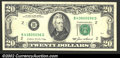 Error Notes:Skewed Reverse Printing, 1985 $20 Federal Reserve Note, Fr-2075-B, Choice CU. The ...