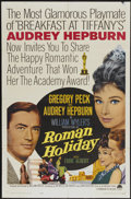 "Movie Posters:Romance, Roman Holiday (Paramount, R-1962). One Sheet (27"" X 41""). Romance....."