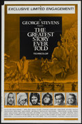 """Movie Posters:Drama, The Greatest Story Ever Told (United Artists, 1965). One Sheet (27"""" X 41""""). Drama...."""