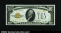 Small Size:Gold Certificates, Fr. 2400 $10 1928 Gold Certificate. Choice Crisp Uncirculated....