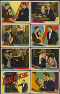 "Movie Posters:Western, Avalanche (Paramount, 1928). Lobby Card Set of 8 (11"" X 14""). Western.... (Total: 8 Items)"