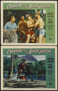 "Creature From the Black Lagoon (Universal International, 1954). Lobby Cards (2) (11"" X 14""). Horror.... (Total..."