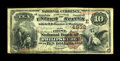 National Bank Notes:Pennsylvania, Philipsburg, PA - $10 1882 Brown Back Fr. 486 The First NB Ch. #(E)4832. ...