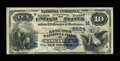 National Bank Notes:Ohio, Cincinnati, OH - $10 1882 Value Back Fr. 579b The Lincoln NB Ch. #(M)2524. ...