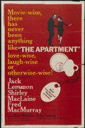 "Movie Posters:Academy Award Winner, The Apartment (United Artists, 1960). One Sheet (27"" X 41"").Academy Award Winner...."
